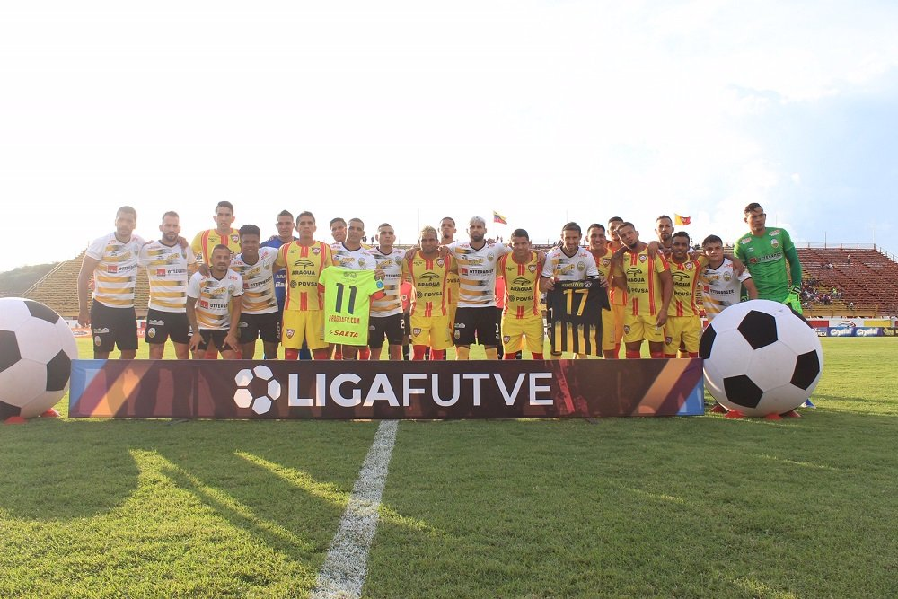 Aragua and Deportivo Táchira mixing in memory of Edgar Bonilla.