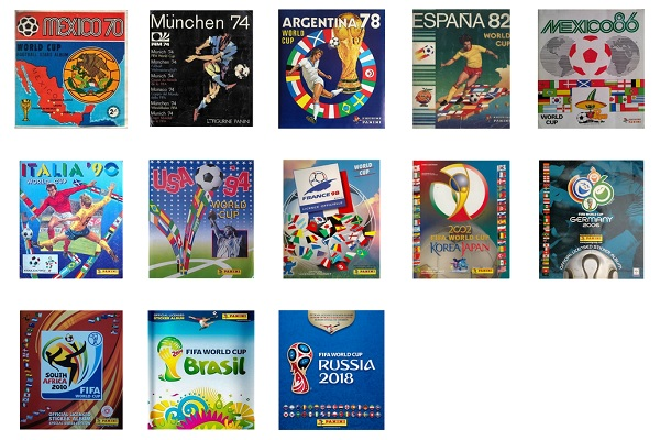 Panini World Cup Album Covers