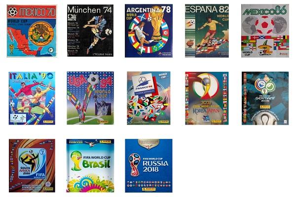 Panini World Cup Album Covers