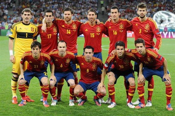 Spain Team Euro 2012 Final